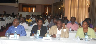 Part of the audience at the Makerere School of Public Health (MakSPH), CHS/CDC organised Public Debate on 23rd August 2012, Imperial Royale Hotel, Kampala Uganda