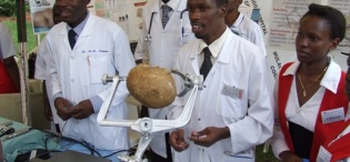 Medical Students exhibit at the CHS Launch, 28th August 2009, Makerere University, Kampala Uganda