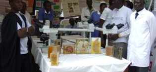 Department of Pathology exhibits at the CHS Launch, 28th August 2009, Makerere University, Kampala Uganda