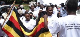 Participants in the Fundraising walk to mark FST 20th Anniversary 26th September 2009, Makerere University, Kampala Uganda