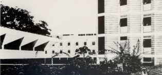 The New Mitchell Hall, Makerere University, Kampala Uganda, completed in 1963