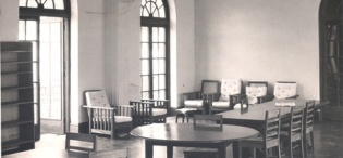 Northcote Hall Junior Common Room Interior, Makerere University, Kampala Uganda in 1952