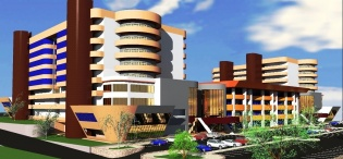 A Front View of the Proposed Students' Centre, Makerere University, Kampala Uganda