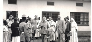 Governor of Uganda Sir Fredrick Crawford K.C.M.G, O.B.E tours Ankole in July 1959