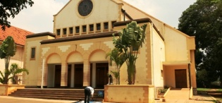 A present day picture of St. Augustine Chapel Makerere University, Kampala Uganda. Completed in 1941, extended in 2005