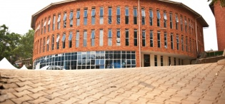 Front view of the St. Francis Community Centre, Dedicated on 9th January 2005 by the Most Rev. Henry Luke Orombi, Makerere University, Kampala Uganda