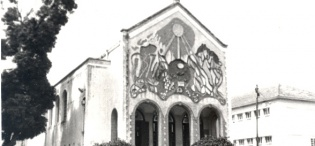 A picture of St. Francis Chapel, Makerere University, Kampala Uganda after its extension. The Chapel was completed in 1941