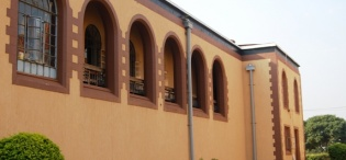 A side elevation of the present day St. Francis Chapel Makerere University, Kampala Uganda. Completed in 1941.