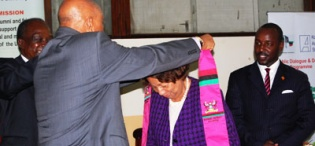 Prof Kagonyera adorns Mrs Aliker