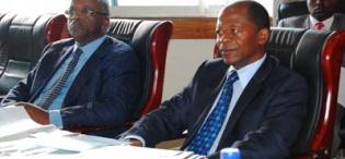 Hon Amama Mbabazi and Hon John Chrysostom Muyingo