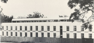The Main CCE Complex Hall Building, Makerere University, Kampala Uganda, completed in 1969