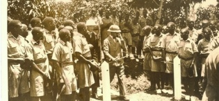 HRH Prince of Wales, later Edward VIII arrives at Makerere College during his visit to Uganda and Kenya in 1928