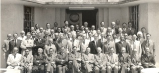 Sir Keith Hancock's Committee during their visit to the Uganda Protectorate on 14th September 1954
