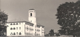 Main Building, Makerere University, Kampala Uganda. Completed in 1941. View from South-East direction