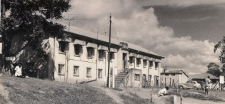 The First Administration Building of Mulago Hospital, founded in 1917, lateron Teaching Hospital for the Medical School, Makerere University, Kampala Uganda