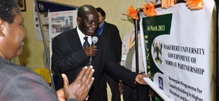 The Vice President H.E. Edward Kiwanuka Ssekandi officially launches the NORHED Programme, Hotel Africana 6th March 2013