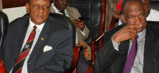 Prof George Kirya and Dr Kisamba Mugerwa