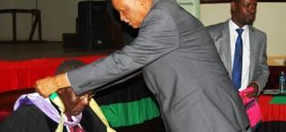 Prof Kagonyera adorns Dr Aliker